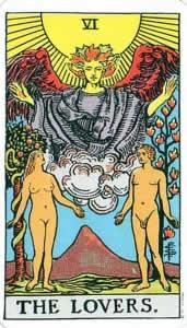 Tarot karte - Ljubavnici