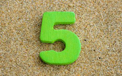 Numerologija – osobine broja 5