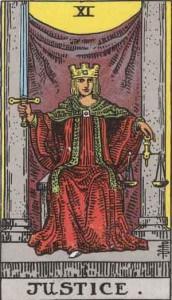 Tarot karta - XI Pravda