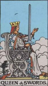 Tarot karte - kraljica mačeva