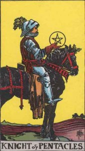 Tarot karte - Vitez novčića