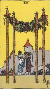 Tarot karte - Četvorka štapova