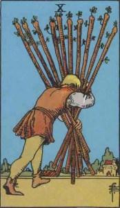 Tarot karte - Desetka štapova