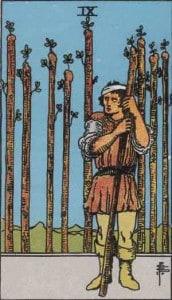 Tarot karte - Devetka štapova