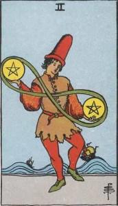 Tarot karte - Dvojka novčića