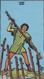 Tarot karte - sedmica štapova
