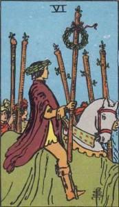 Tarot karte - Šestica štapova