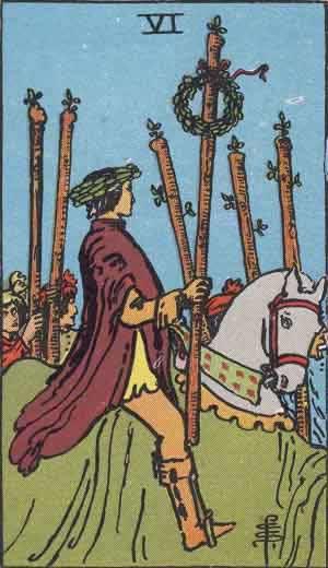 Tarot karte – Šestica štapova
