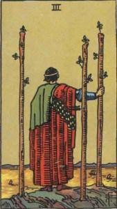 Tarot karte - Trojka štapova