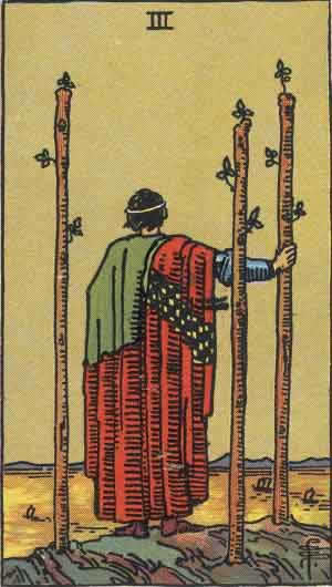 Tarot karte – Trojka štapova