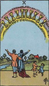 Tarot karta - Desetka pehara