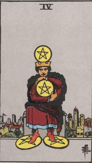 Tarot karte – Četvorka novčića