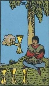 Tarot karte - četvorka pehara