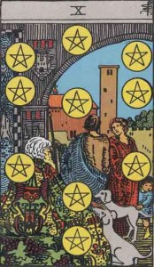 Tarot karte - desetka novčića