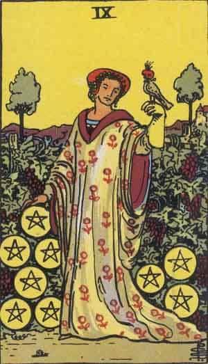 Tarot karte – Devetka novčića