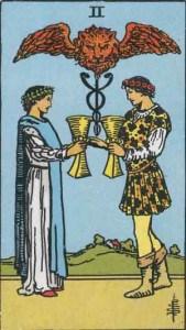 Tarot karte - dvojka pehara