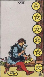 Tarot karte - Osmica novčića