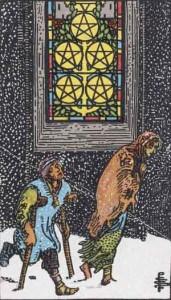Tarot karte - Petica novčića