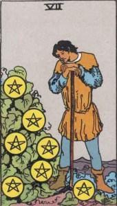 Tarot karte - Sedmica novčića