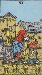 Tarot karte - Šestica pehara