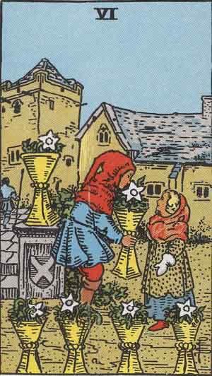 Tarot karte – Šestica pehara