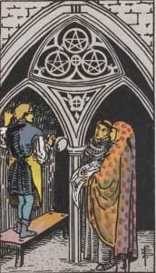Tarot karte - Trojka novčića