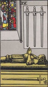 Tarot karta - Četvorka mačeva