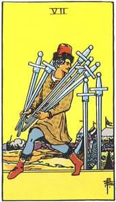 Tarot karte – Sedmica mačeva