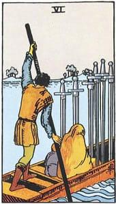 Tarot karte - Šestica mačeva