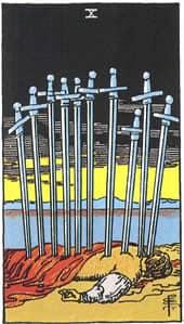 Tarot karta – Desetka mačeva