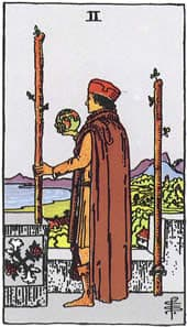 Tarot karta – Dvojka štapova