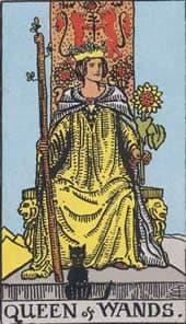 Tarot karta – Kraljica štapova