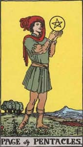Tarot karte - paž novčića