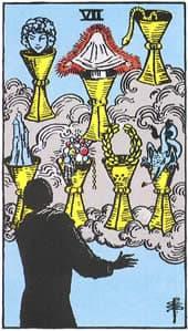 Tarot karte - sedmica pehara