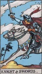 Tarot karta – Vitez mačeva